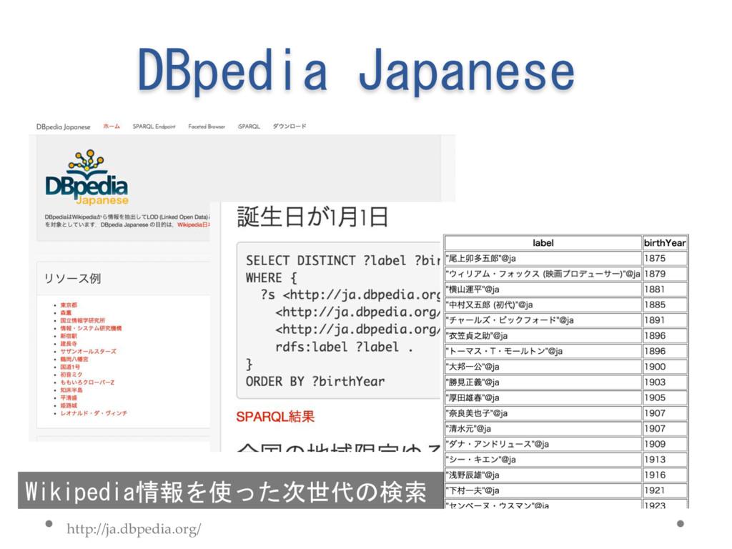 DBpedia Japanese http://ja.dbpedia.org/ Wikiped...