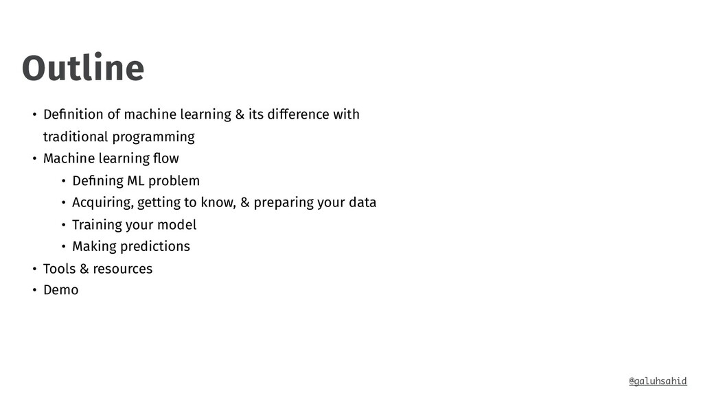 • Definition of machine learning & its differenc...