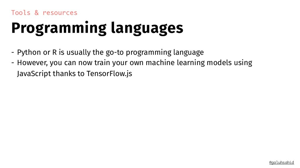 Programming languages Tools & resources - Pytho...