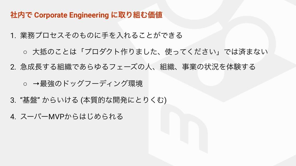 ࣾͰ Corporate Engineering ʹऔΓΉՁ 1. ۀϓϩηεͦͷͷ...