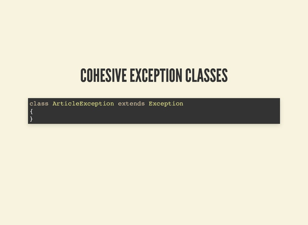 COHESIVE EXCEPTION CLASSES COHESIVE EXCEPTION C...