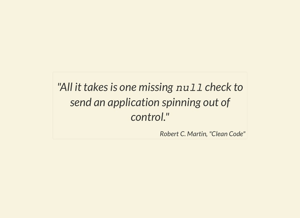 """All it takes is one missing null check to send..."