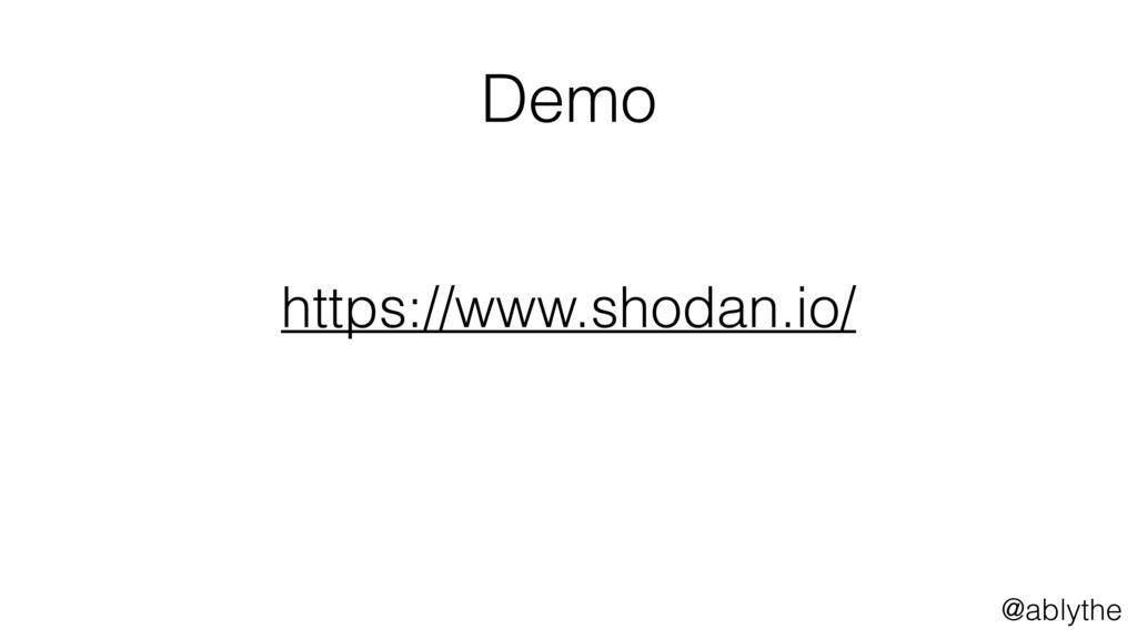 @ablythe Demo https://www.shodan.io/