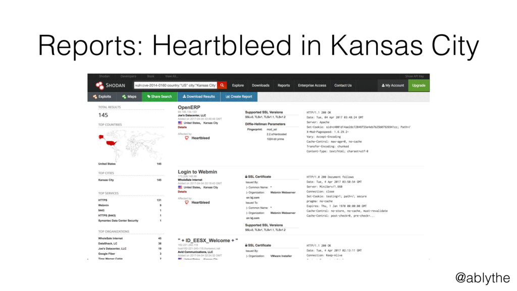@ablythe Reports: Heartbleed in Kansas City