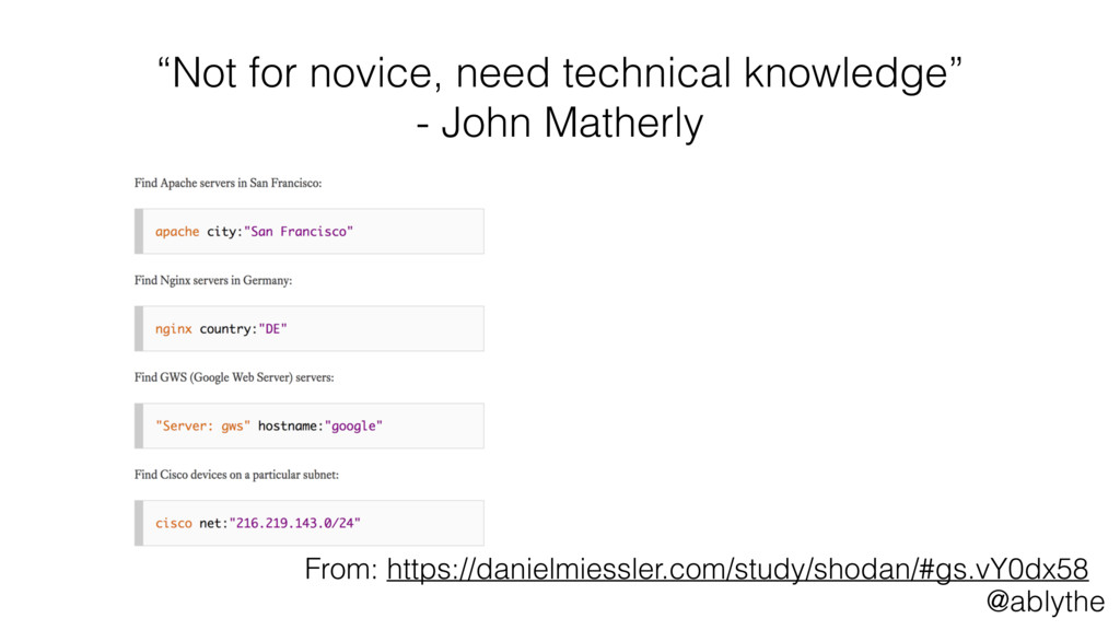 "@ablythe ""Not for novice, need technical knowle..."