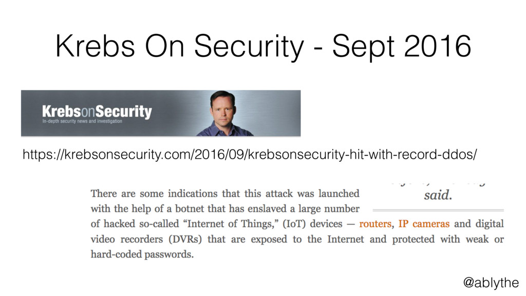 @ablythe Krebs On Security - Sept 2016 https://...