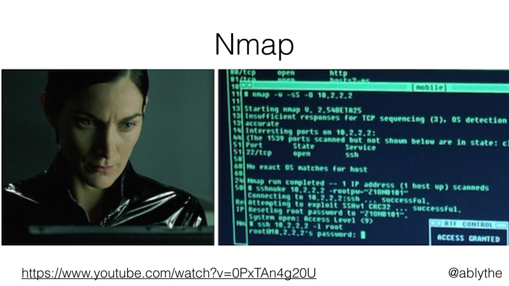 @ablythe Nmap https://www.youtube.com/watch?v=0...