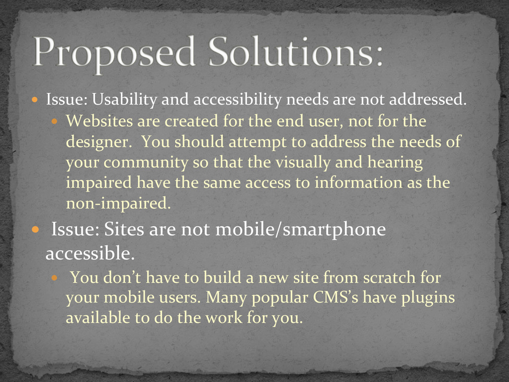 —  Issue:	