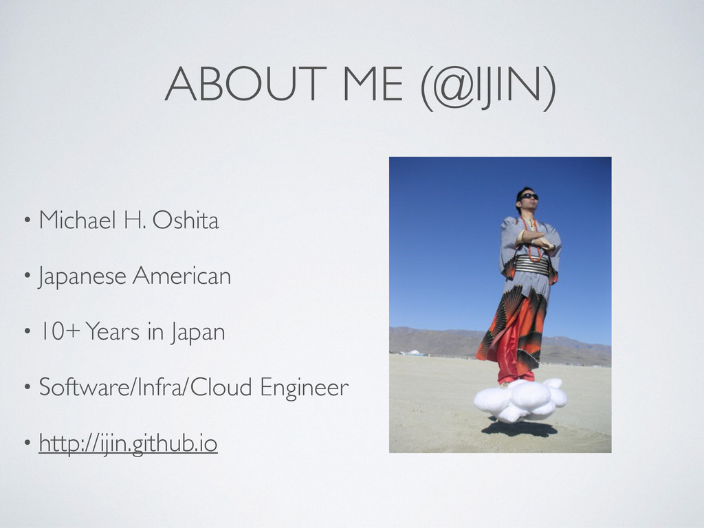 ABOUT ME (@IJIN) • Michael H. Oshita  • Japan...