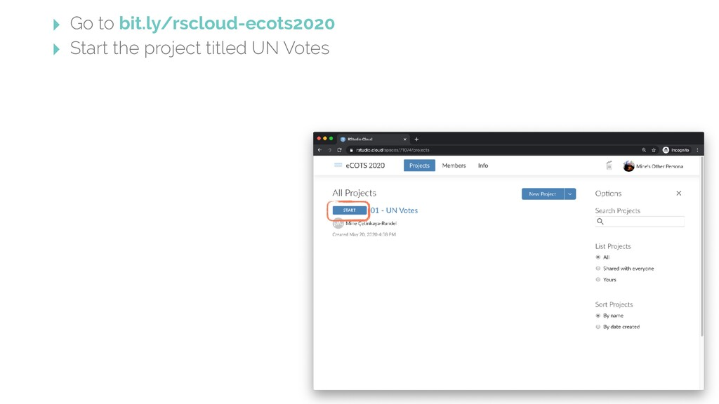 ‣ Go to bit.ly/rscloud-ecots2020 ‣ Start the pr...