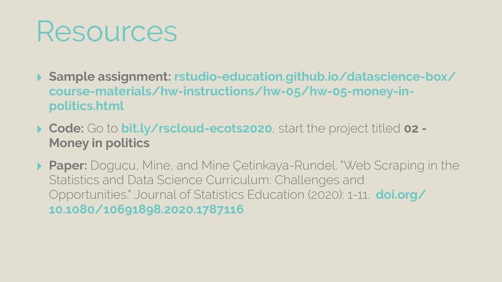 ‣ Sample assignment: rstudio-education.github.i...