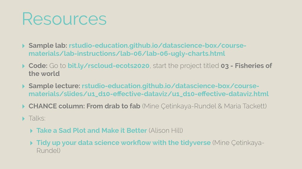 ‣ Sample lab: rstudio-education.github.io/datas...