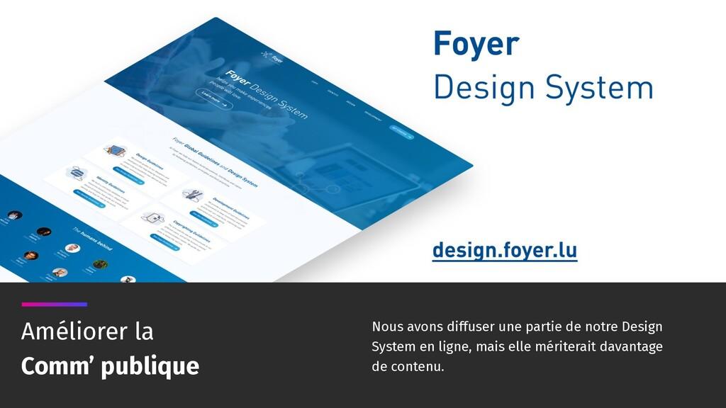 Nous avons diffuser une partie de notre Design ...