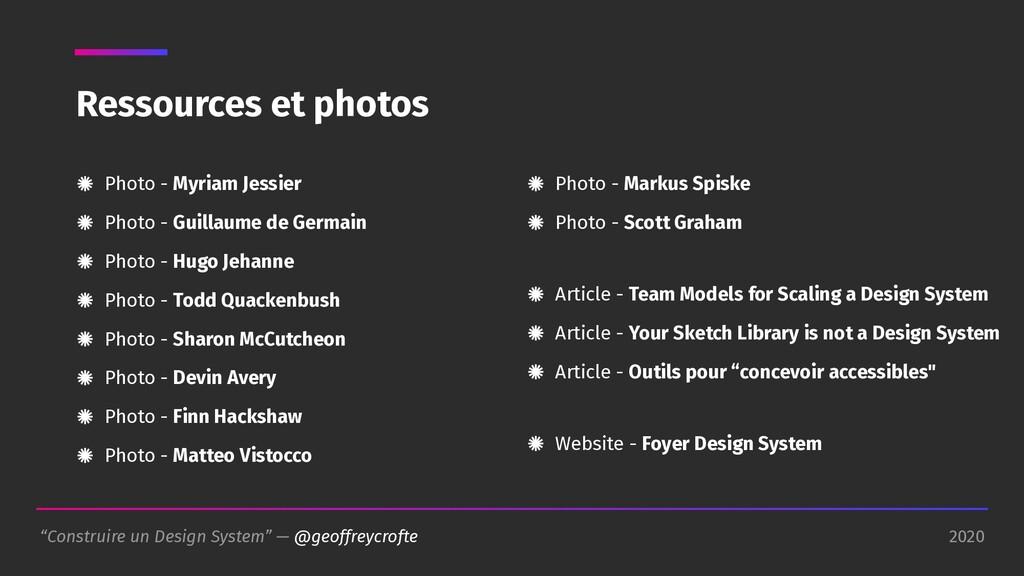"""2020 """"Construire un Design System"""" — @geoffreyc..."""