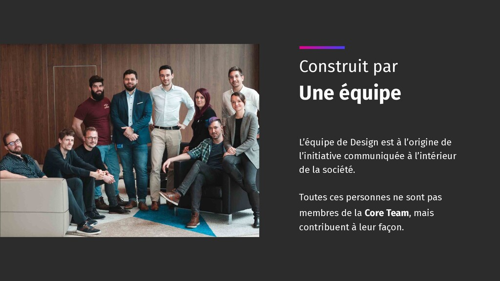 L'équipe de Design est à l'origine de l'initiat...