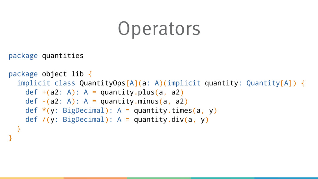 Operators package quantities package object lib...