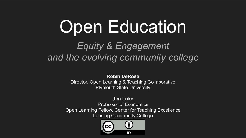 Open Education Equity & Engagement and the evol...