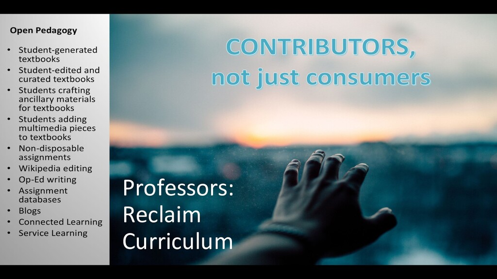 Professors: Reclaim Curriculum