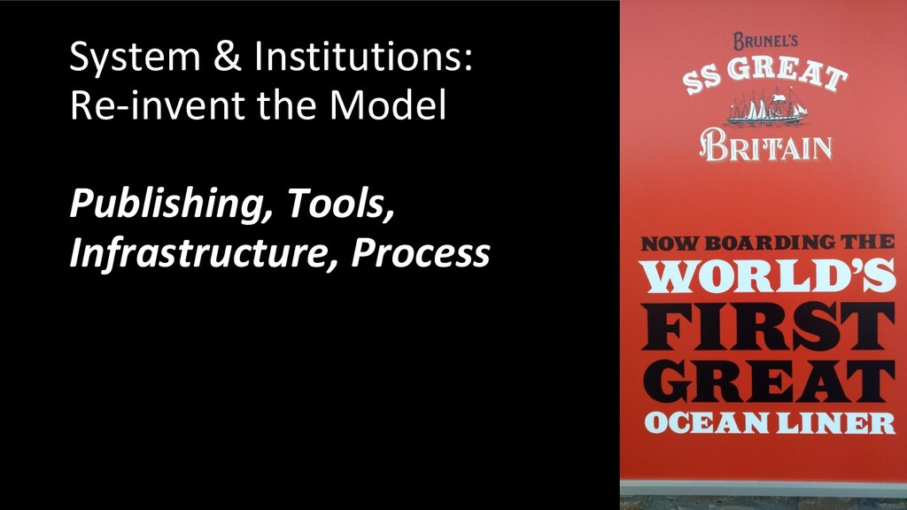 System & Institutions: Re-invent the Model Publ...