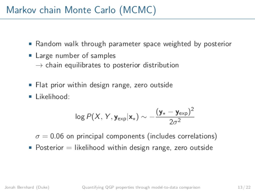 Markov chain Monte Carlo (MCMC) Random walk thr...