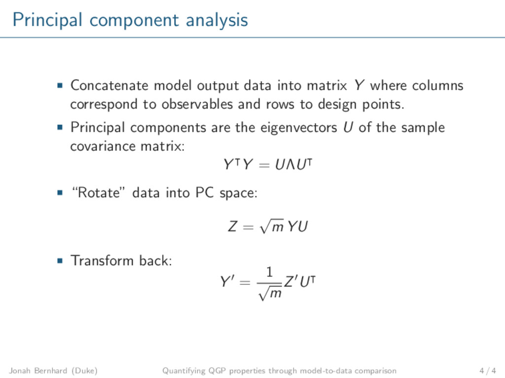 Principal component analysis Concatenate model ...