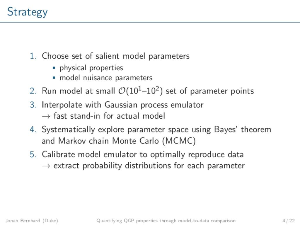 Strategy 1. Choose set of salient model paramet...