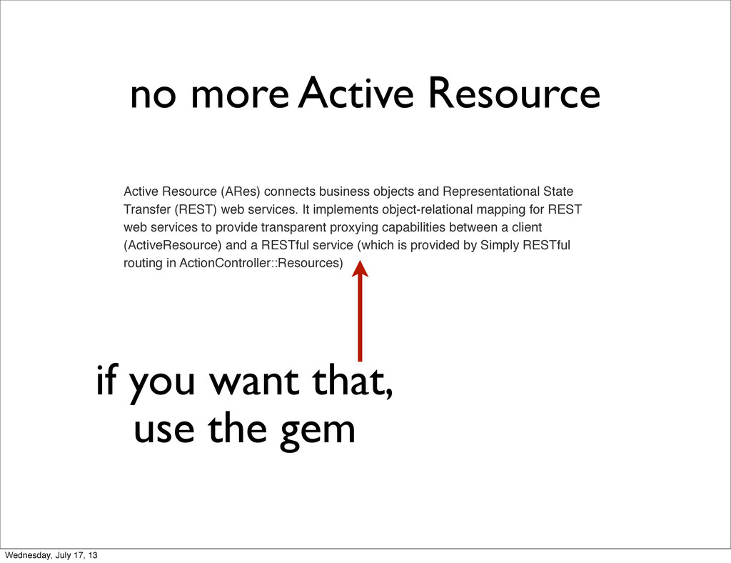 Active Resource (ARes) connects business object...