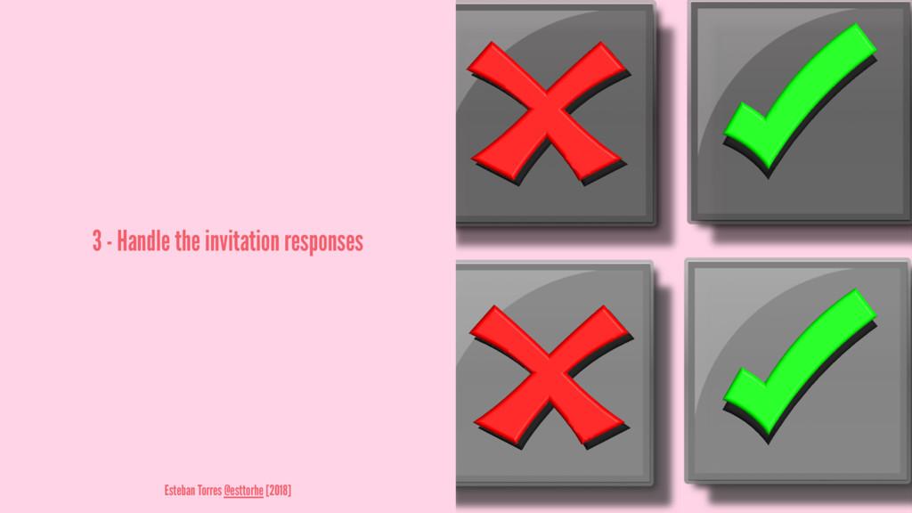3 - Handle the invitation responses Esteban Tor...