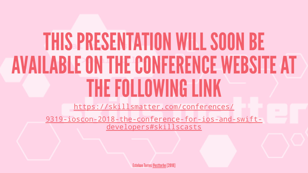 THIS PRESENTATION WILL SOON BE AVAILABLE ON THE...