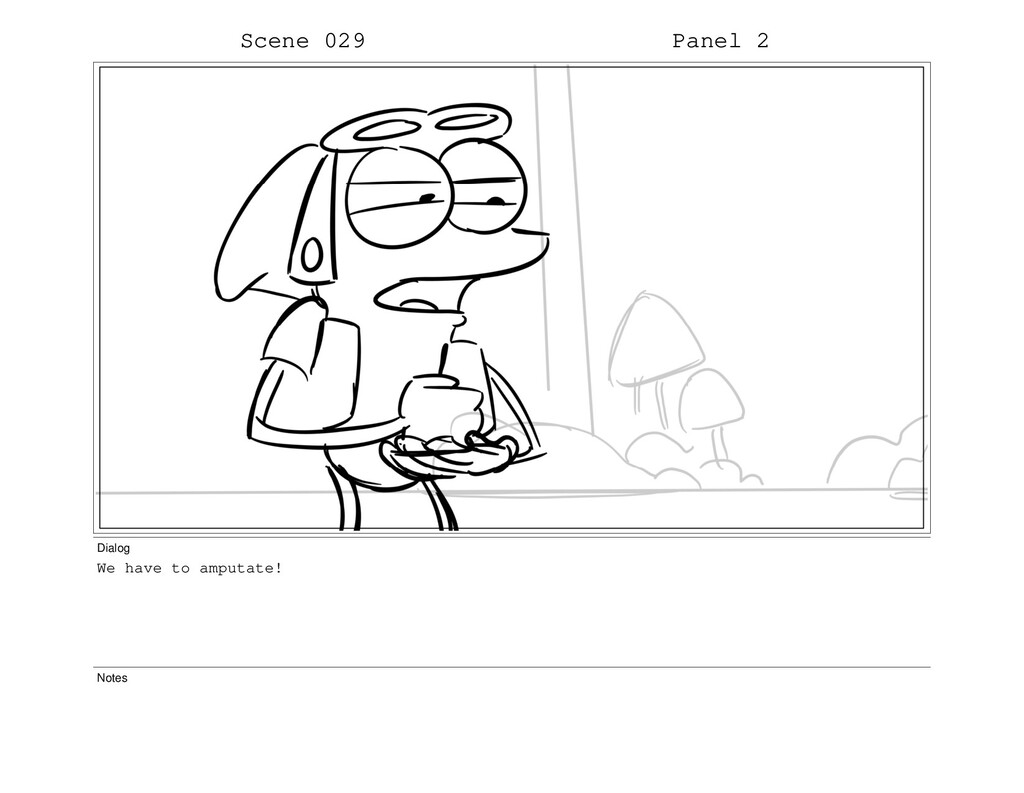 Scene 029 Panel 2 Dialog We have to amputate! N...