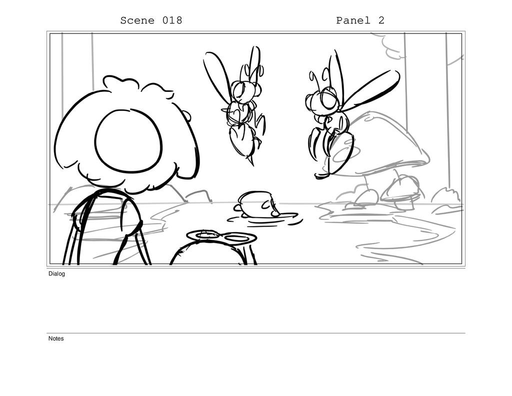 Scene 018 Panel 2 Dialog Notes