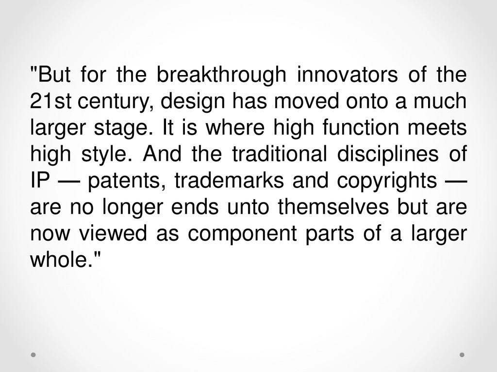 """""""But for the breakthrough innovators of the 21s..."""