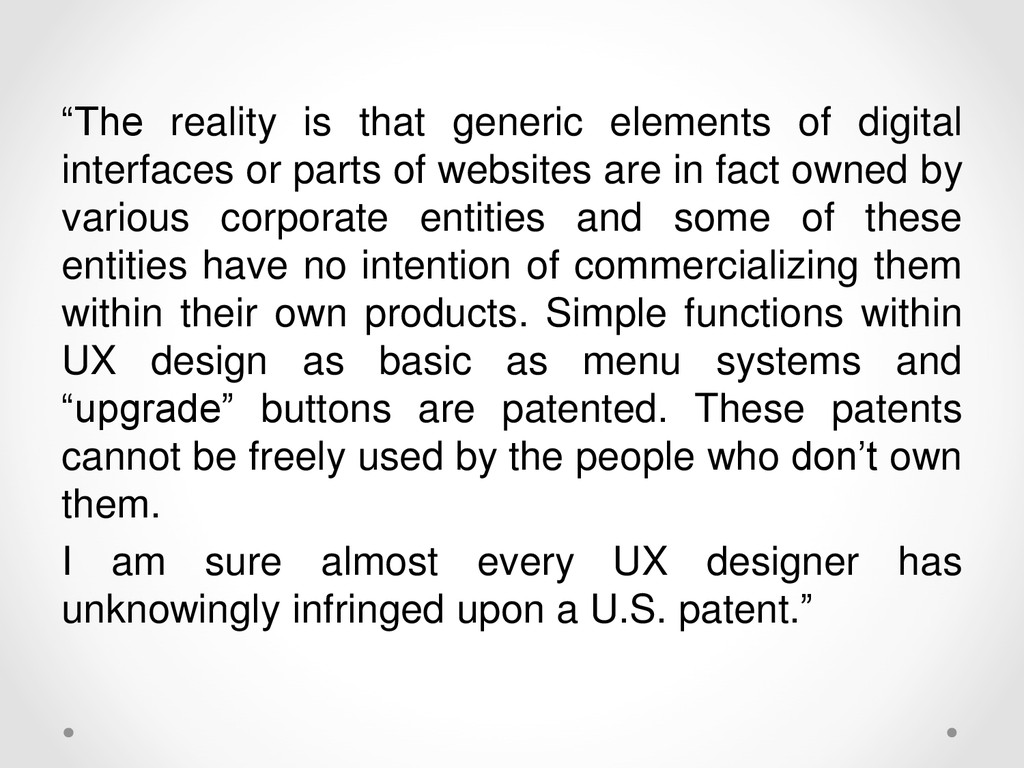 """""""The reality is that generic elements of digita..."""