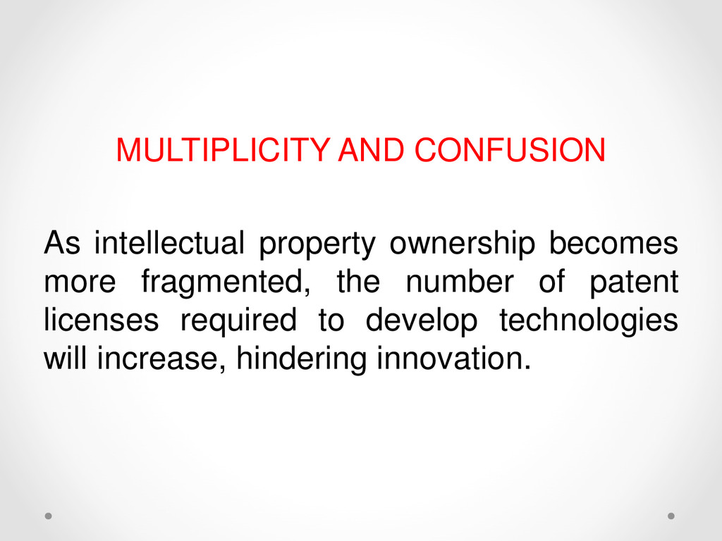 MULTIPLICITY AND CONFUSION As intellectual prop...