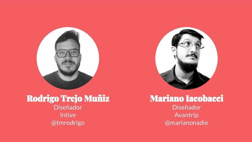 Diseñador Intive @tmrodrigo Diseñador Avantrip ...
