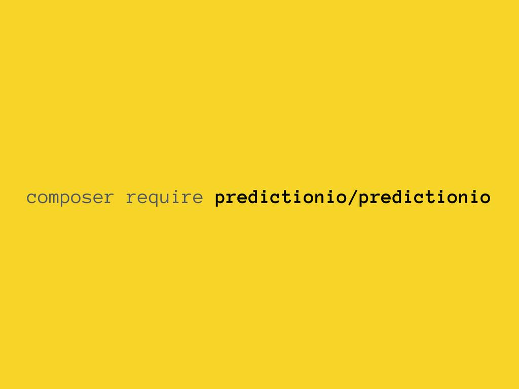 composer require predictionio/predictionio