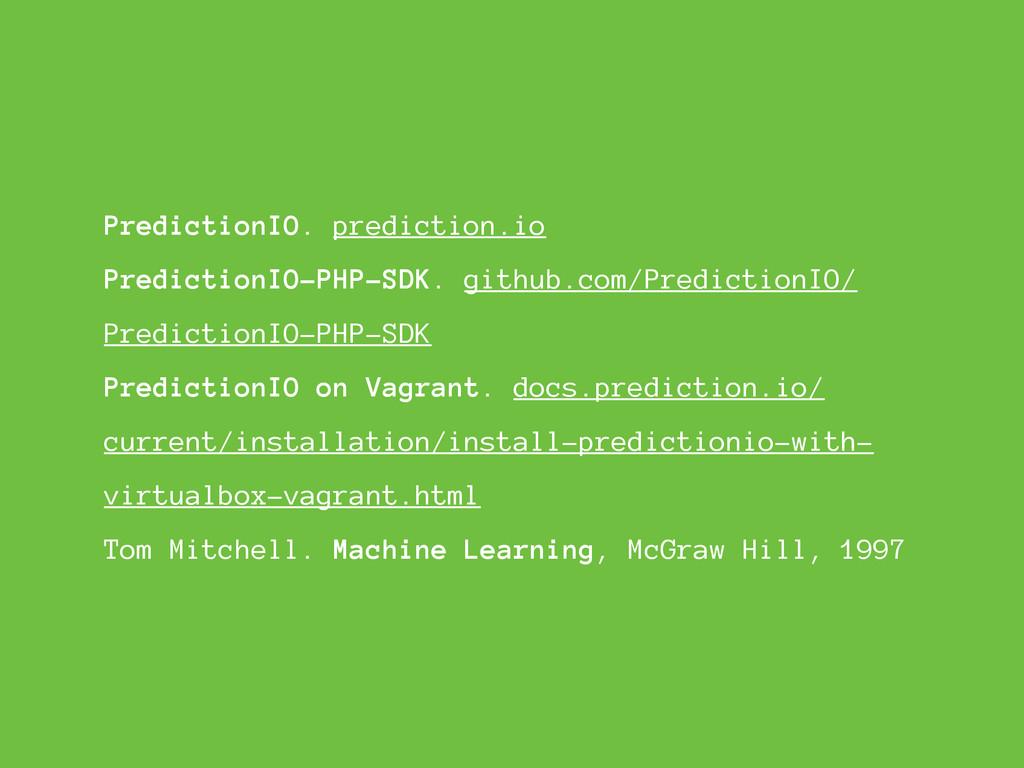PredictionIO. prediction.io PredictionIO-PHP-SD...