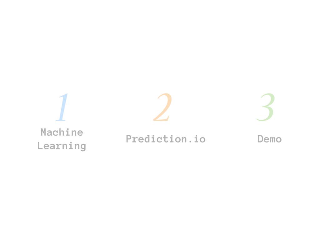 Machine Learning Prediction.io Demo 1 2 3