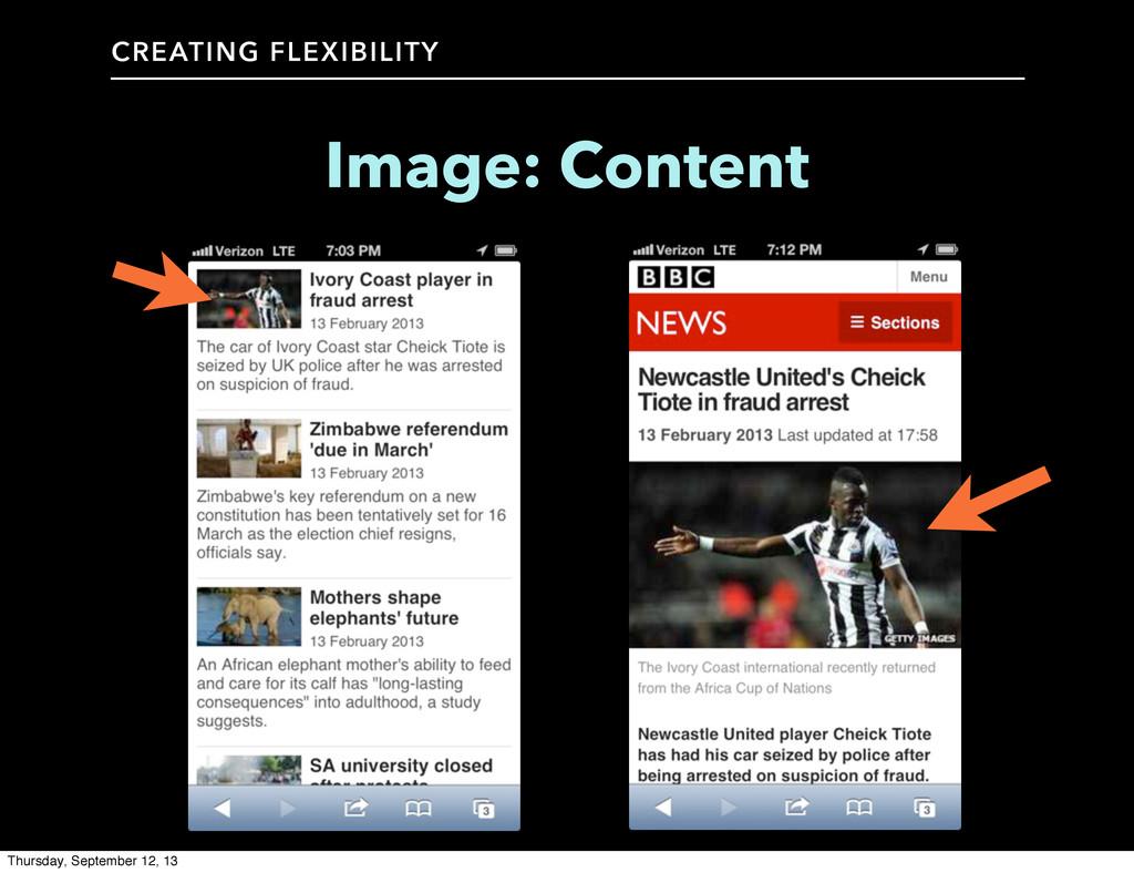 CREATING FLEXIBILITY Image: Content Thursday, S...