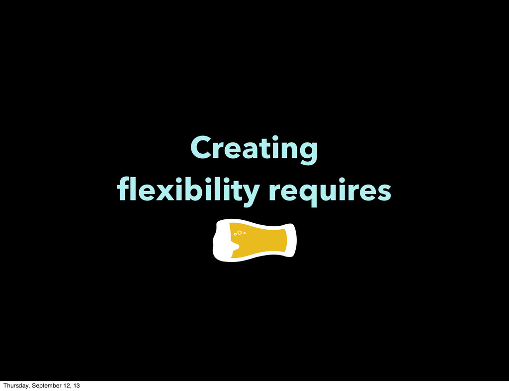 Creating flexibility requires Thursday, Septemb...
