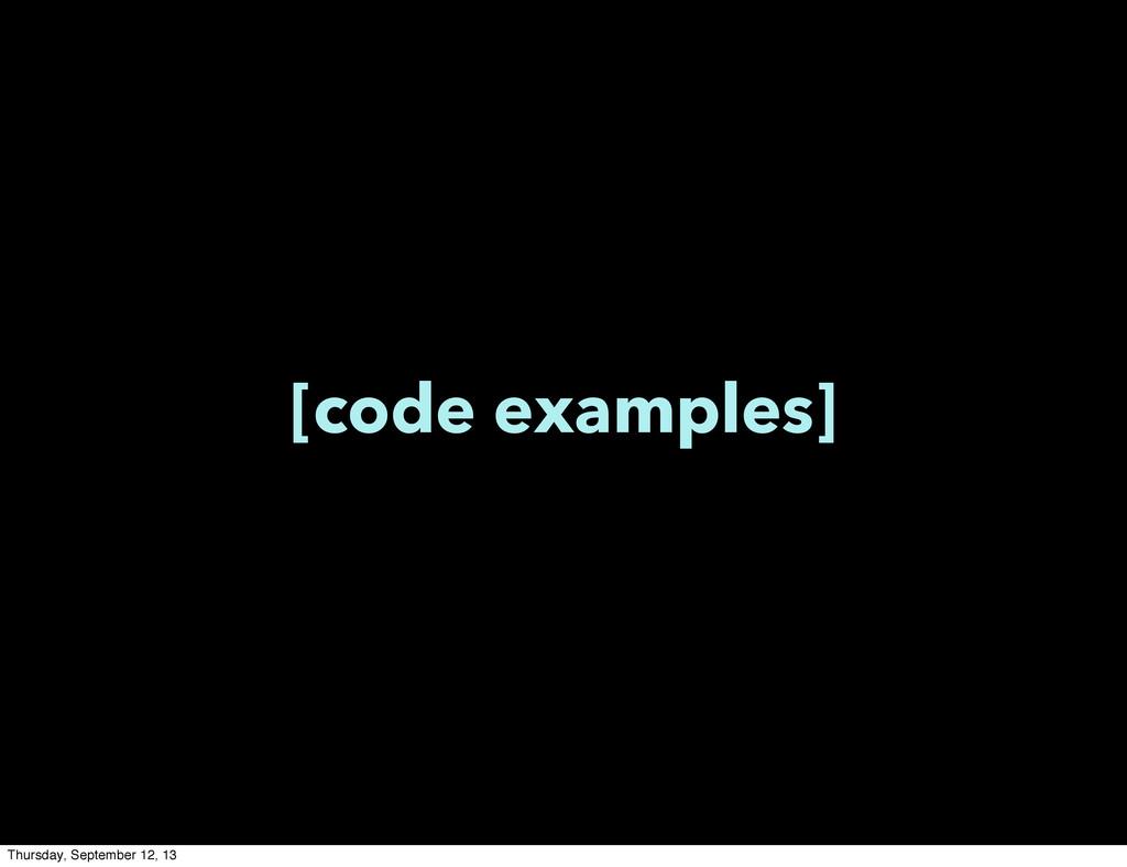 [code examples] Thursday, September 12, 13