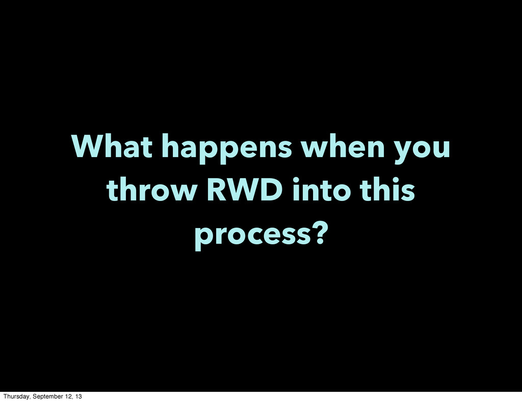 What happens when you throw RWD into this proce...