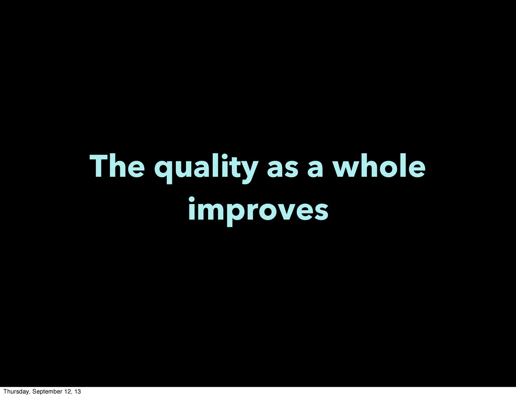 The quality as a whole improves Thursday, Septe...