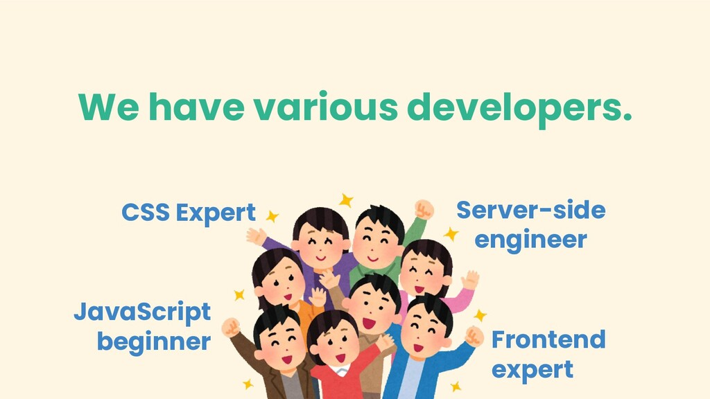 We have various developers. CSS Expert JavaScri...