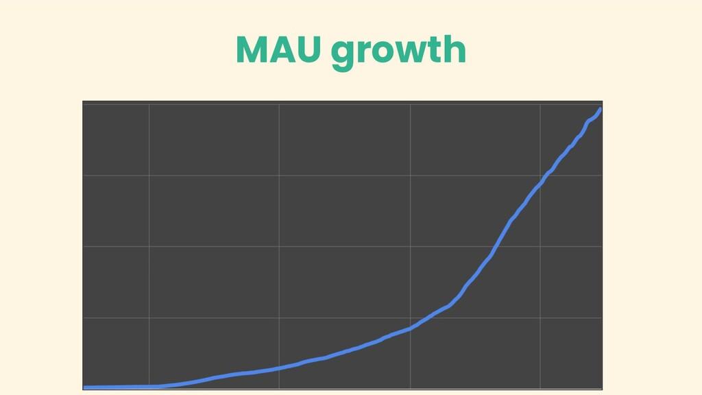 MAU growth