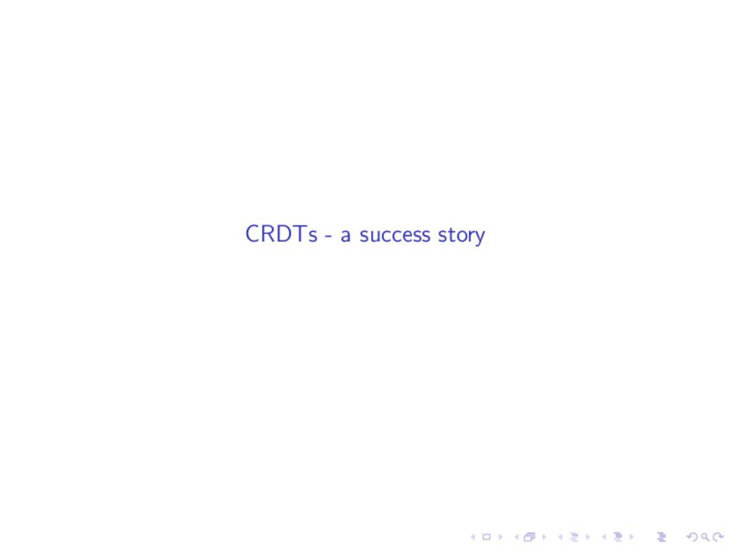 CRDTs - a success story