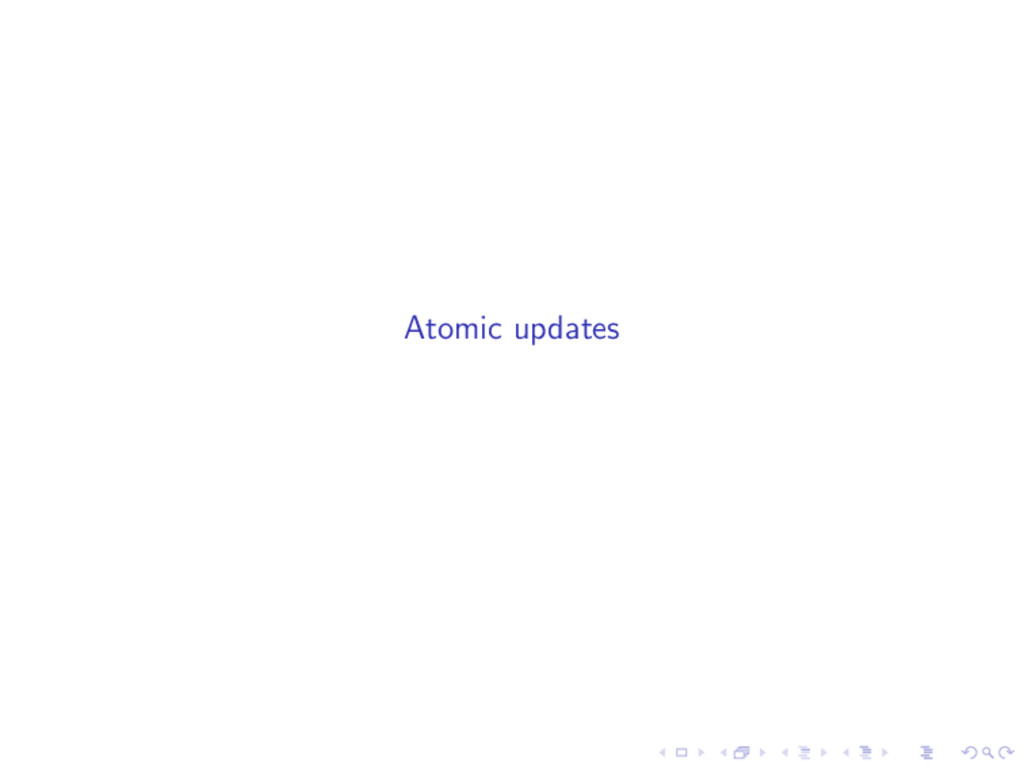 Atomic updates