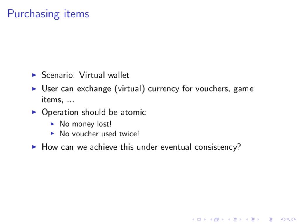 Purchasing items Scenario: Virtual wallet User ...
