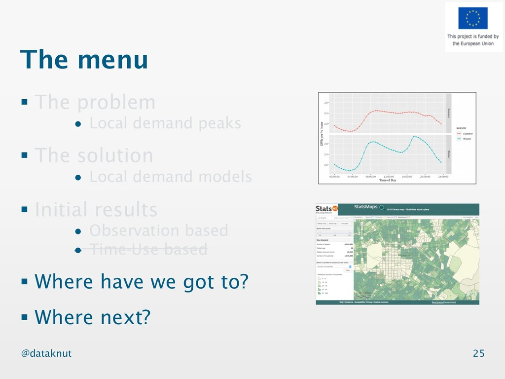 @dataknut The menu § The problem • Local demand...