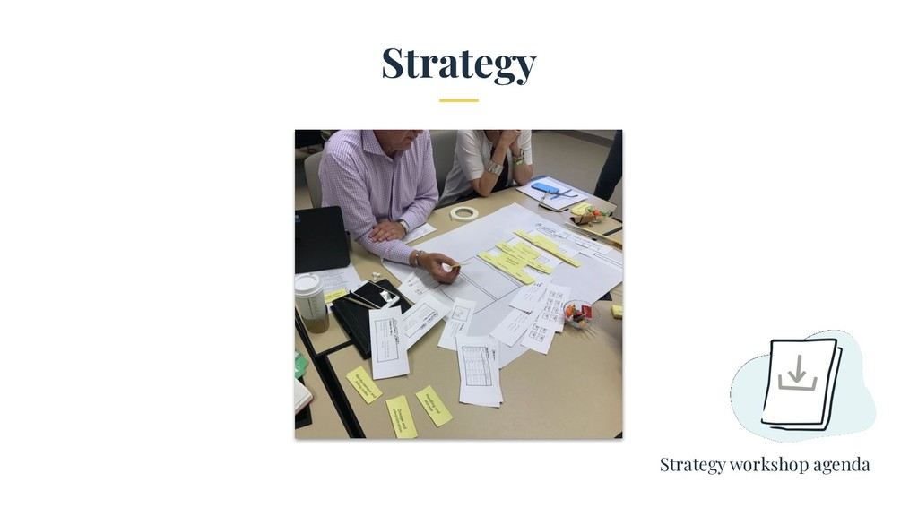 Strategy Strategy workshop agenda